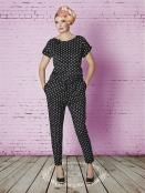 Jumpsuit Sarah Suit Black White dots von Du Milde
