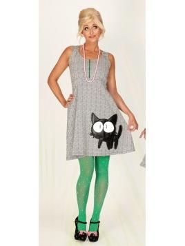 Kleid Nanny Niceeyes Cat von Margot in Grey