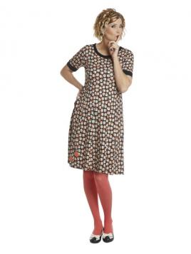 Kleid DU-Ninnas-Apples von Du Milde in RotBraun