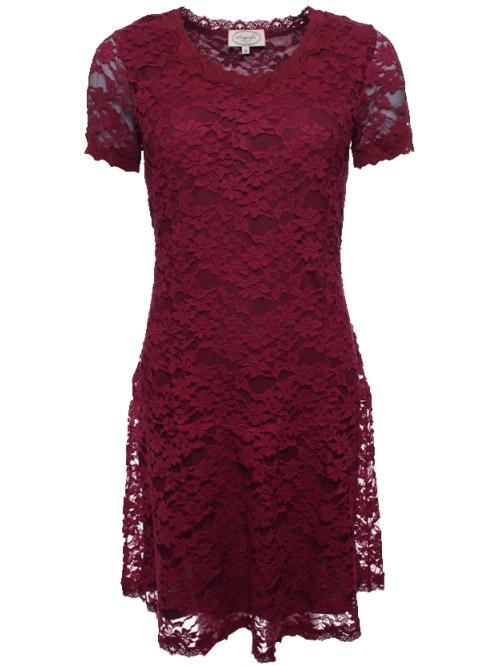 0741dd9545c0 Kleid Elina 28-011-500 von Sorgenfri Sylt in burgundy - Mit lille ...