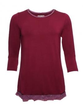 Shirt Mya 28-049-500 von Sorgenfri Sylt in burgundy