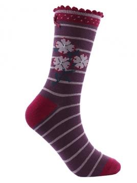 Socken Irma Stripe von Sorgenfri Sylt in blossom