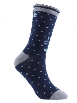 Socken Irma Dot von Sorgenfri Sylt in midnight