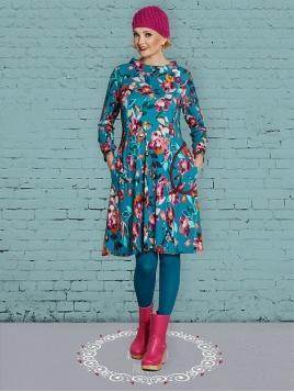 Kleid Carolines Watercolours von Du Milde in Blau