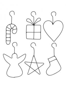 Drahtanhänger (Zuckerstange) von Ib Laursen
