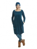 Kleid Karins Velvet Dream von Du Milde in Tuerkis