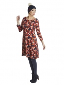 Kleid Caroline Orange Shock von Du Milde in RotOrange