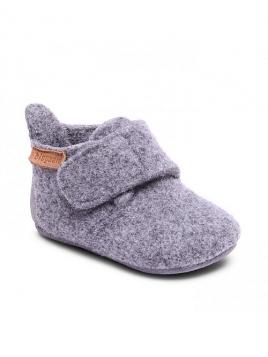 Kinderhausschuhe Wool von Bisgaard Sko in Grey