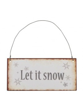 Schild (Let it snow) von Ib Laursen