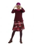 Blouse Albertas Christmas Rose von Du Milde in Weinrot