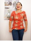 Kurzarm T-Shirt Marvelous Amy von Endless Moda Denmark in Red