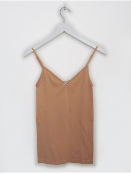 Microfiber Top von Saint Tropez in Nude