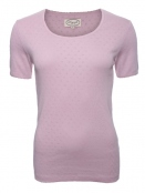 Baumwoll-Shirt Maren von Sorgenfri Sylt in Rose