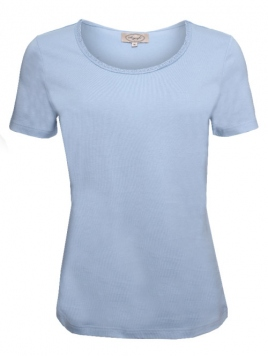 Kurzarm T-Shirt Palma von Sorgenfri Sylt in light blue