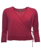 Strickjacke Leni von Sorgenfri Sylt in cherry