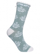 Socken Irma Ornament von Sorgenfri Sylt in mint