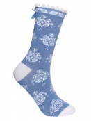 Socken Irma Ornament von Sorgenfri Sylt in sweden blue