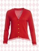 Strickjacke Loulou von Du Milde in Red